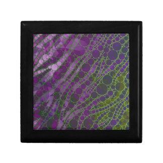 サイケデリックな紫色の緑のシマウマ ギフトボックス
