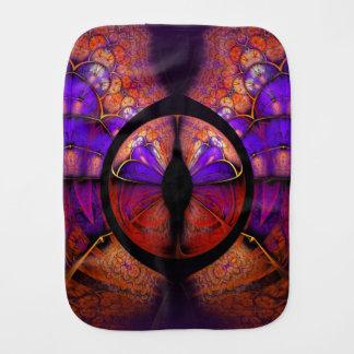 サイケデリックな紫色の蝶フラクタルパターン バープクロス