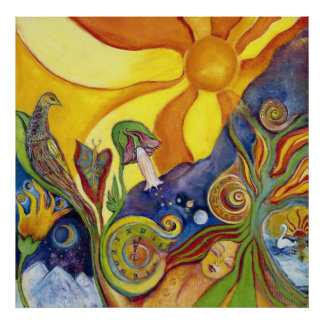 サイケデリックな芸術の日光の夢 ポスター