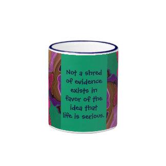 サイケデリックな芸術メッセージ リンガーマグカップ