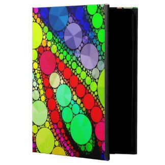 サイケデリックな虹のきらきら光るなパターン POWIS iPad AIR 2 ケース