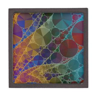 サイケデリックな虹のきらきら光るな抽象芸術 ギフトボックス