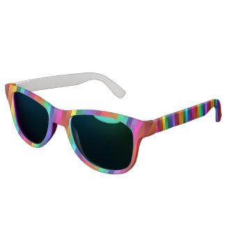 サイケデリックな虹のストライプなサングラス サングラス