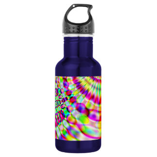 サイケデリックな虹のヒッピーの日の出 ウォーターボトル
