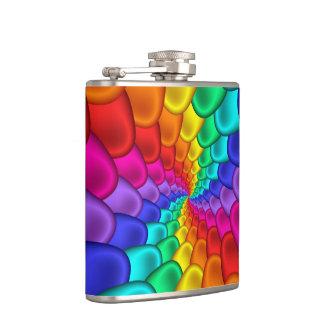 サイケデリックな虹の螺線形のフラスコ フラスク