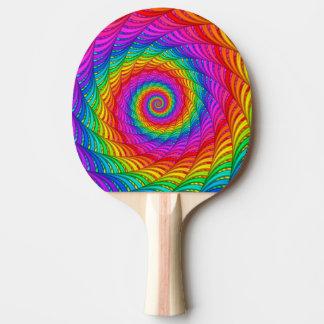 サイケデリックな虹の螺線形の卓球ラケット 卓球ラケット