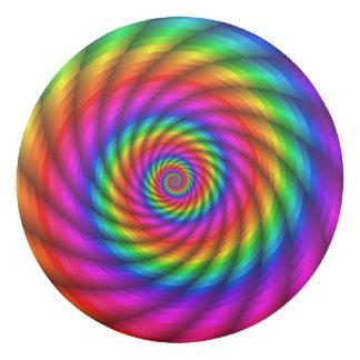 サイケデリックな虹の螺線形の消す物 消しゴム