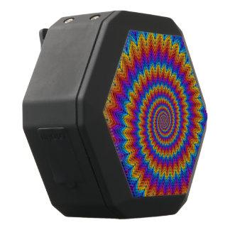 サイケデリックな虹の螺線形のBoombotのレックスのスピーカー ブラックBluetoothスピーカー