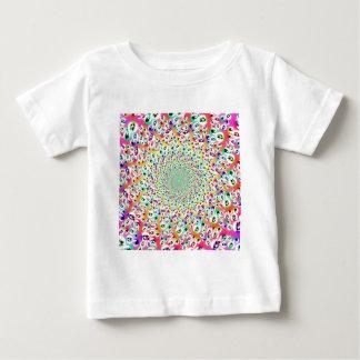 サイケデリックな虹は曼荼羅Babysを注目します ベビーTシャツ