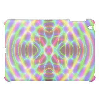 サイケデリックな蛍光ネオン曼荼羅 iPad MINIケース