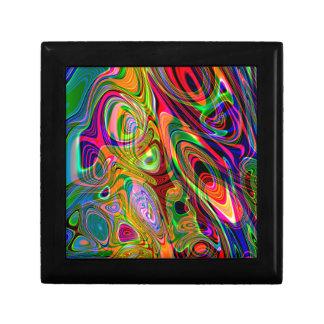 サイケデリックな蛍光抽象的な回転 ギフトボックス