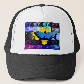 サイケデリックな蜂蜜の鮫の帽子 キャップ