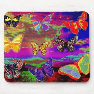 サイケデリックな蝶マウスパッド マウスパッド