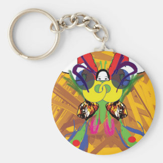 サイケデリックな蝶 キーホルダー