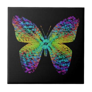 サイケデリックな蝶 タイル