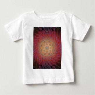 サイケデリックな螺線形のアートワーク: ベビーTシャツ