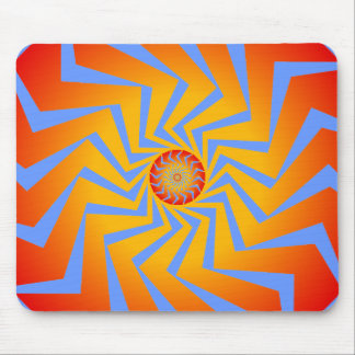 サイケデリックな螺線形パターン: ベクトル芸術: マウスパッド