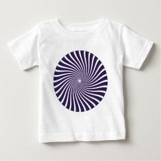 サイケデリックな螺線形パターン: ベビーTシャツ