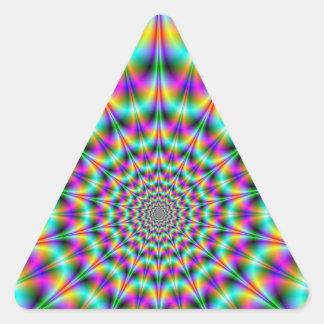 サイケデリックな超新星の三角形のステッカー 三角形シール