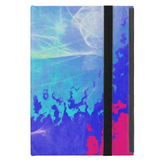 サイケデリックな霧の青い輝きの星の抽象芸術 iPad MINI ケース