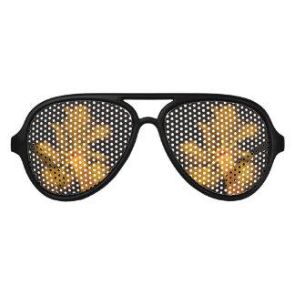 サイケデリックな飛行士のサングラス-ヤシの木 アビエーターサングラス