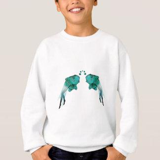 サイケデリックな魚の青 スウェットシャツ