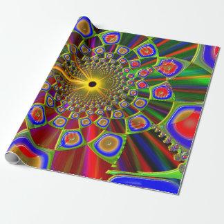 サイケデリックな3d光学の旅行 ラッピングペーパー