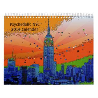 サイケデリックなNYC 2014のカレンダー カレンダー