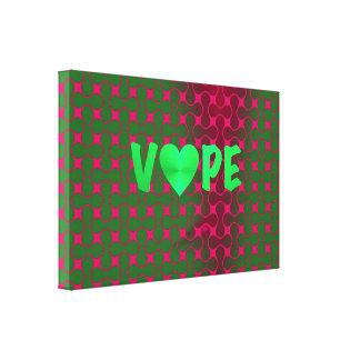 サイケデリックなSpearmintのピンクのレトロのVapeのハート キャンバスプリント
