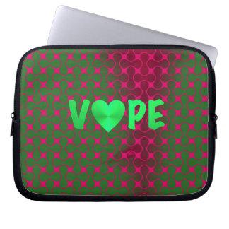 サイケデリックなSpearmintのピンクのレトロのVapeのハート ラップトップスリーブ