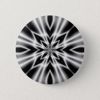 サイケデリックなX線の花 5.7CM 丸型バッジ