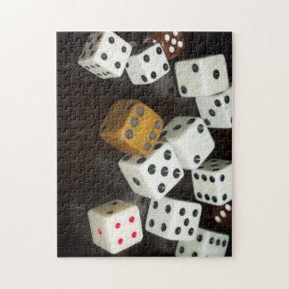 サイコロが付いている11x14パズル ジグソーパズル