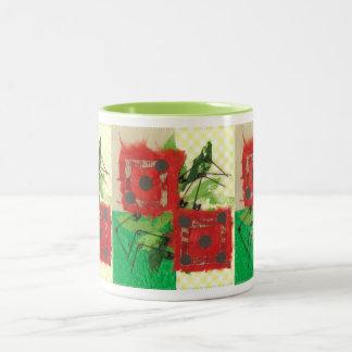 サイコロのてんとう虫のマグ ツートーンマグカップ