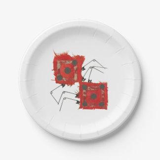 サイコロのてんとう虫の紙皿 ペーパープレート