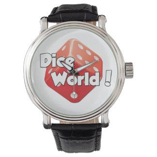 サイコロの世界! 腕時計