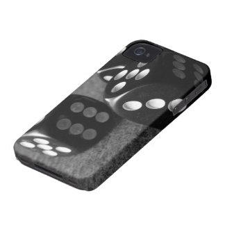 サイコロのIphone白黒4/4sの箱 Case-Mate iPhone 4 ケース