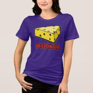 サイズのTシャツとウィスコンシンのチーズ女性のBella Tシャツ