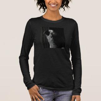 サイズのV首のワイシャツとアフリカ灰色の女性 長袖Tシャツ