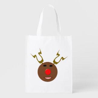 サイバーのクリスマスのトナカイのエコバッグ エコバッグ
