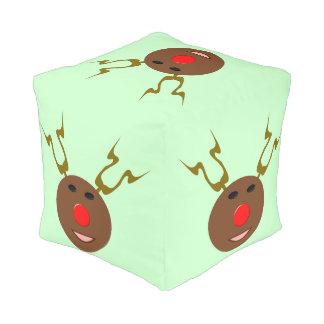 サイバーのクリスマスのトナカイのキューブパフ プーフ