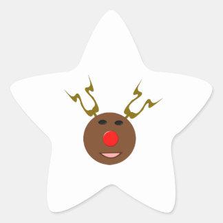 サイバーのクリスマスのトナカイのステッカー 星シール