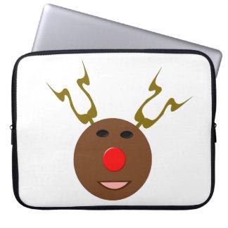 サイバーのクリスマスのトナカイのラップトップスリーブ ラップトップスリーブ
