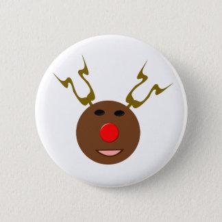サイバーのクリスマスのトナカイボタン 5.7CM 丸型バッジ
