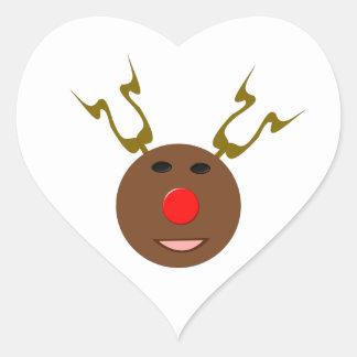 サイバーのクリスマスのトナカイSickers ハートシール