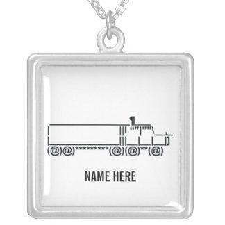 サイバーのトラックの運転手の記号 シルバープレートネックレス