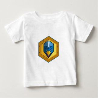 サイバーのパンクの鶏の六角形アイコン ベビーTシャツ