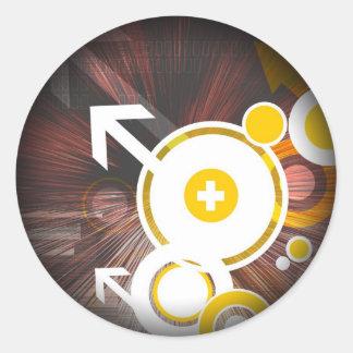 サイバーの円 ラウンドシール