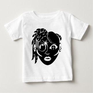 サイバーの女の子 ベビーTシャツ