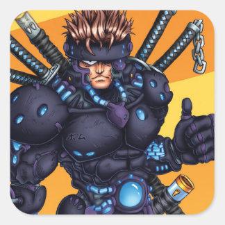 サイバーの忍者 スクエアシール