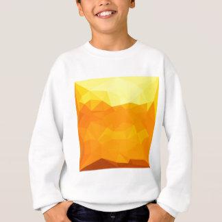 サイバーの黄色の抽象芸術の低い多角形の背景 スウェットシャツ